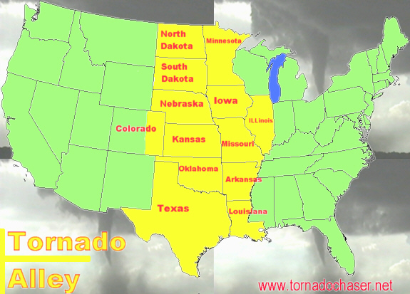They Say 90 Of Us Tornadoes Occur In Tornado Alley Something To Do With Cold Dry Air Coming Down From Canada To Meet The Warm Moist Air From The Gulf Of