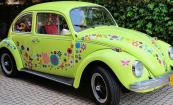VW beetle flower car stickers
