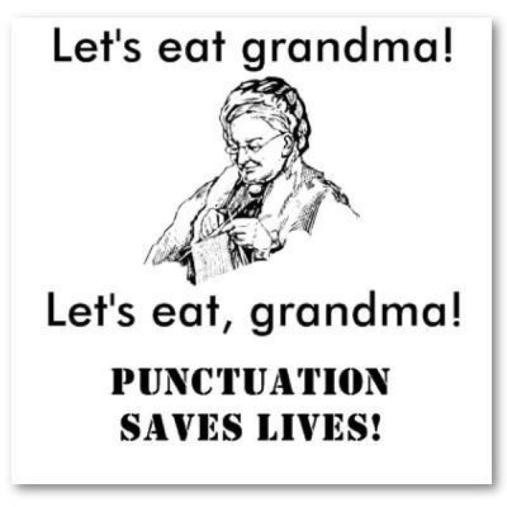 lets eat grandma2 let's eat grandma! punctuation saves lives